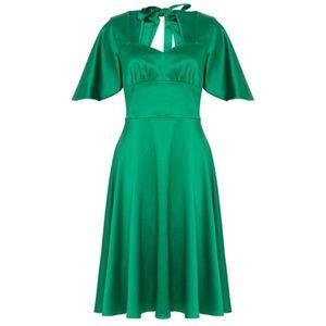 💚Voodoo Vixen Mariah Cape Dress Emerald Green💚